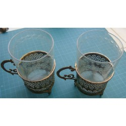 A couple of Ottoman Glass Holder with Glasses_429