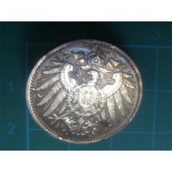 1914 German 1 Mark Silver Cufflink_190