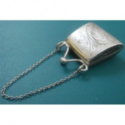 hand made small silver bag object_192