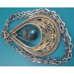 gold washed silver fligree NECKLACE_13