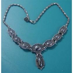 black stone silver NECKLACE_16