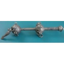 enamel silver baby rattle_224