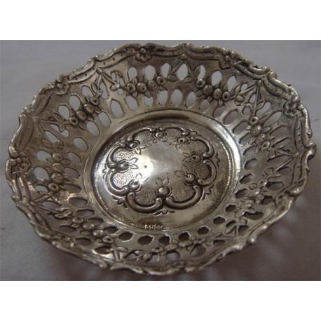 German 835K silver mini  plate object_225