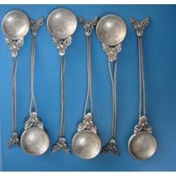 6 ea Ottoman Coin Tea Spoon_45