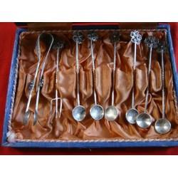 6 ea Ottoman Coin Tea Spoon, Sugar Tong and Lemon Fork71