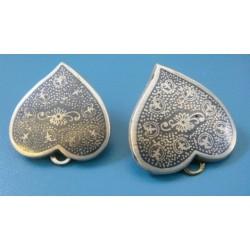 Silver Niello EARRING _r2